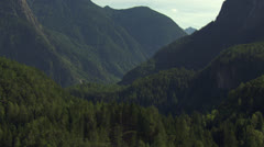 Reveal shot of mountain lake, Tyrol / Austria Stock Footage
