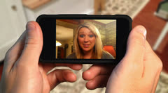 Video Chatting on Smart Phone Stock Footage