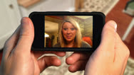 Stock Video Footage of Video Chatting on Smart Phone