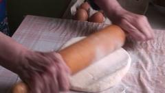 Lady making dumplings (10) Stock Footage