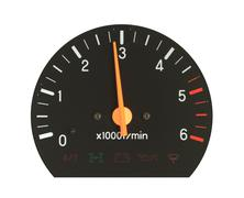 engine revolution meter - stock photo