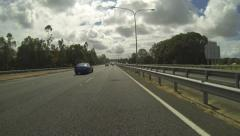 Australian Highway time lapse with rain Stock Footage