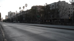 Santiago, Chile street in morning Stock Footage