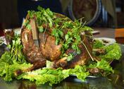 Stock Photo of roasted whole lamb gansu province china