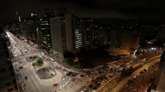 Time Lapse - Paulista avenue Stock Footage