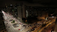 Stock Video Footage of Time Lapse - Paulista avenue