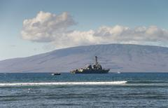 us naval ship - stock photo