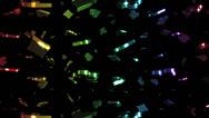 Stock Video Footage of Looping Rainbow Card Symbols Falling