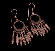 Beaded earrings Stock Photos