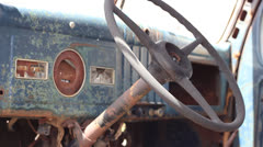 Dash view of old truck - stock footage