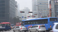 Stock Video Footage of Heavy traffic in downtown, Seoul, South Korea