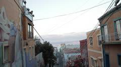 Valparaiso, Chile street Stock Footage
