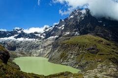 El Altar Volcano In Sangay National Park Ecuador Composite Image - stock photo