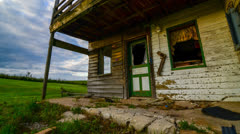 Abandoned House 4K Timelapse Stock Footage