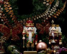 Christmas wooden nutcrackers Stock Photos