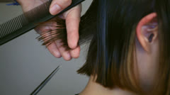 Haircut close up Stock Footage