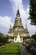 Wat yai chai mongkhon temple in,ayuthaya province, thailand Stock Photos