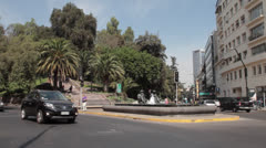 Santiago, Chile traffic Stock Footage