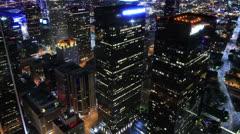 Night Cityscape Timelapse 179 Los Angeles Freeway Traffic Tilt Up Stock Footage