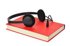 Stock Photo of audiobook and headphones