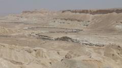 Ein Avdat Canyon in Negev desert, Israel Stock Footage