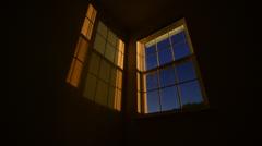 Stars Passing Bedroom Window Stock Footage
