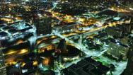 Night Cityscape Timelapse 181 Los Angeles Freeway Traffic Stock Footage