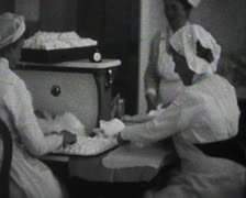 World War 1 - Hospital staff working Stock Footage