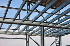 mezzanine girders - stock photo