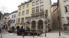 Rue de la Loge (Old Street), Luxembourg City Stock Footage