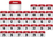 Stock Illustration of june calendar