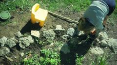Gardening garden Stock Footage