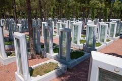 Memorial park for turkish martyrs who lost their lives in 1915, in canakkale, Stock Photos