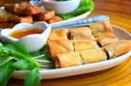 Stock Photo of deep fried spring rolls