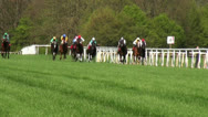 Stock Video Footage of Horse Racing final scene in slow motion