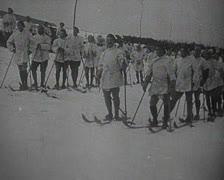 World War 1 - Mountain troops deployment Stock Footage