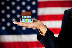 politician: housing industry concept - stock photo
