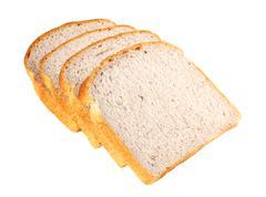 brown rice bread - stock photo