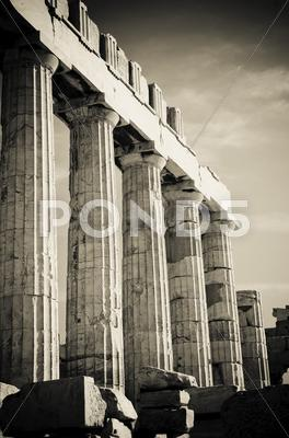 Stock photo of greek columns