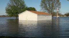 Flooded town Stock Footage