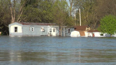 Flooded town - stock footage