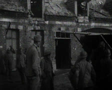 World War 1 - Soldiers deploying in a city Stock Footage