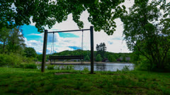 Bench by the Lake 4K Stock Footage