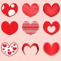 Vector hearts set for wedding Stock Illustration
