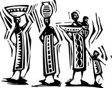 African women Stock Illustration