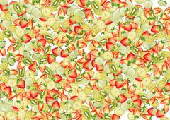 Stock Photo of fruity background.