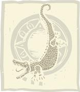 Alligator circle Stock Illustration