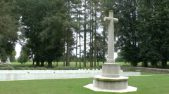 Hawthorn Ridge No. 2 Cemetery, Newfoundland Memorial Park, Somme, France. Stock Footage