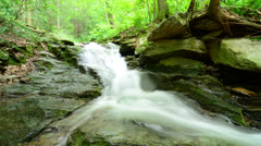 4K Waterfall Jib Shot Stock Footage