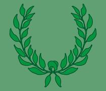 Green background wreath leaf vector art Stock Illustration